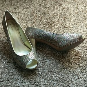 Nine West Peep Toe Pumps Size 8